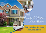 residential painting company promotional mailer example