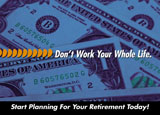 retirement advisor marketing postcard example