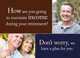 retirement planning postcard design