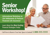retirement planning seminar postcard for retirees