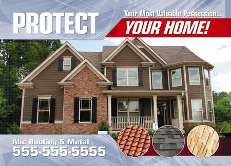 Elegant Roofing Contractor Marketing Postcard Idea