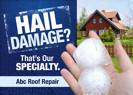 Awesome Roofing Specialist Advertising Post Card
