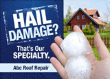 roofing specialist advertising post card