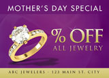 sale promotion for mothers day jewelry