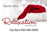 salon spa christmas gift card mailer
