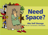self storage advertising post card example