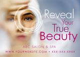 spa and salon promotional postcard
