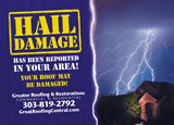storm season roofing marketing postcard
