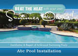 swimming pool pavers promotional mailer