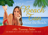 tanning salon sunless tan postcard marketing sample