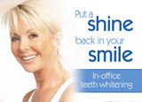 teeth whitening postcard example