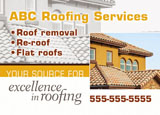 upscale roofing postcard example
