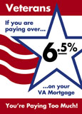va loan mortgage direct mail postcard