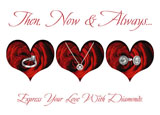 valentines day postcard design