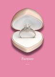 valentines day jewelry marketing post card