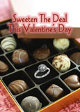 valentines day jewelry postcard for lead generation