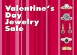valentines day jewelry sale postcard