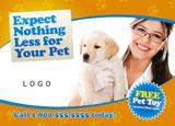 veterinarian practice marketing postcard sample