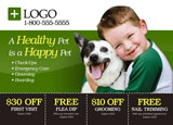 veterinary clinic advertising post card
