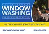 window washer mail piece example