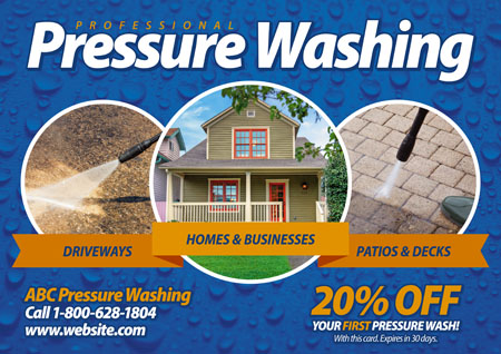 Window Washing Pressure Cleaning Direct Mail Postcard Examples
