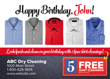 Dry Cleaning Birthday Marketing