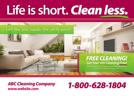 Cleaning Company Postcard Design