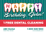 Dentist Birthday Postcard