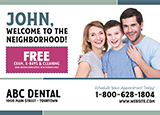 Dental New To Town Postcard Marketing