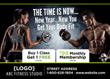 new years fitness postcard