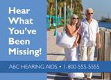 hearing aid marketing postcard for seniors