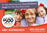 Hearing Aid Postcard Mailer