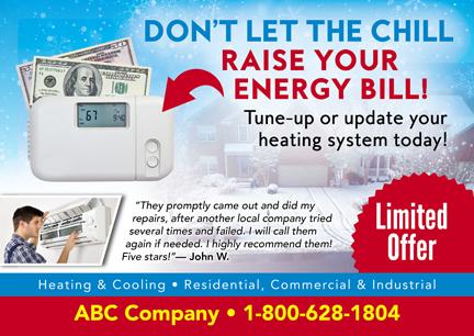 19 Brilliant HVAC Advertising & Marketing Direct Mail Postcard ...