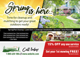 Landscaping Advertisement for Spring