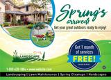 Spring Landscaping Postcard