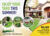 Summer Landscaping Postcard