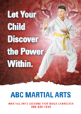 karate postcard design