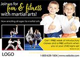 Karate Postcard Marketing