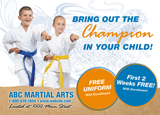 Karate School Postcard