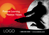 martial arts postcard design