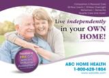 Senior Home Care Postcard Design