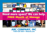 Storage company postcard design