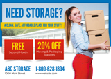 Storage Postcard Design