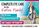 Optometrist Postcard Design