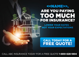 Insurance Quote Postcard Design