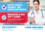 Pharmacy Postcard Design