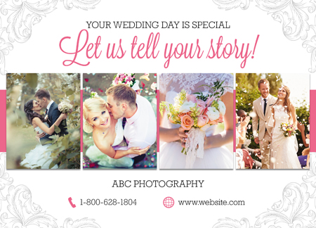 Photography Postcard Wedding Photographer Postcard Design Layout