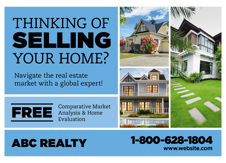 Brilliant Realtor Direct Mail Postcard Advertising Templates
