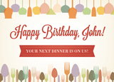 Restaurant Birthday Postcard