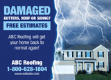 Damaged Roof Postcard Mailer